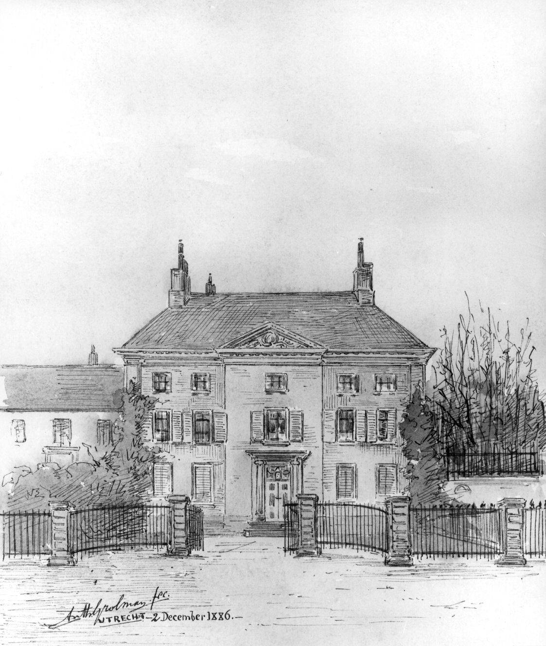Janskerkhof 17 te Utrecht in december 1886